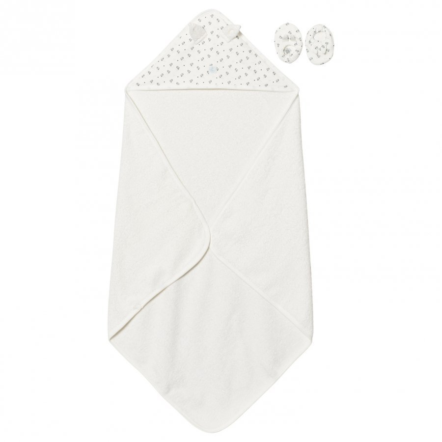 Petit Bateau Towel And Slippers Creme Pyyhesetti