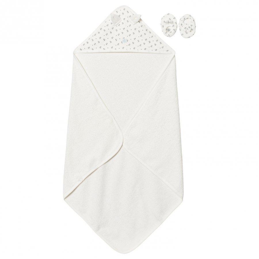 Petit Bateau Towel And Slippers Creme Pyyhesetti