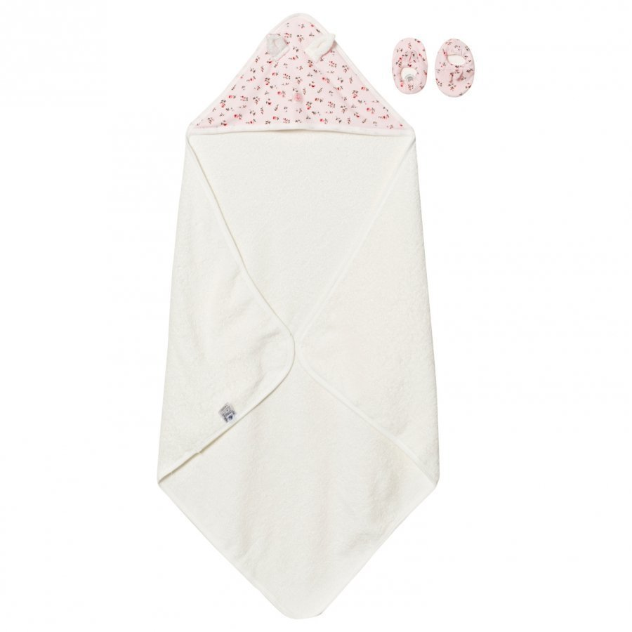 Petit Bateau Towel And Slippers Pink Pyyhesetti