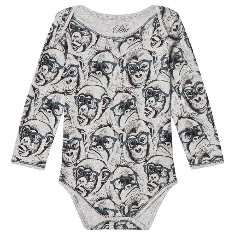 Petit By Sofie Schnoor Baby Body Monkey Grey Melange Body