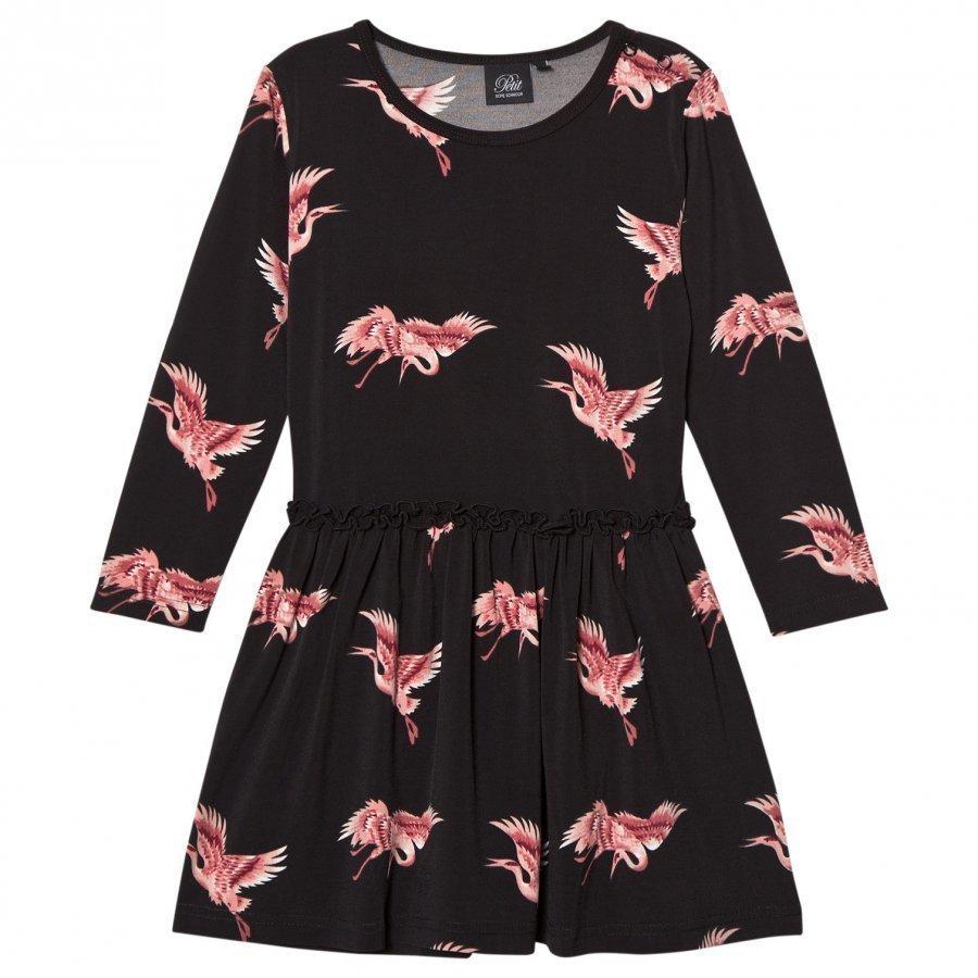 Petit By Sofie Schnoor Bird Dress Black Mekko