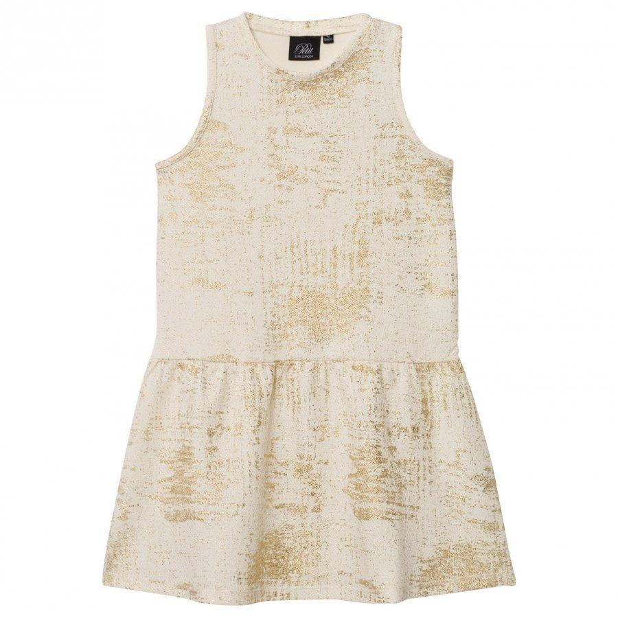 Petit By Sofie Schnoor Dress Off-White Gold Mekko