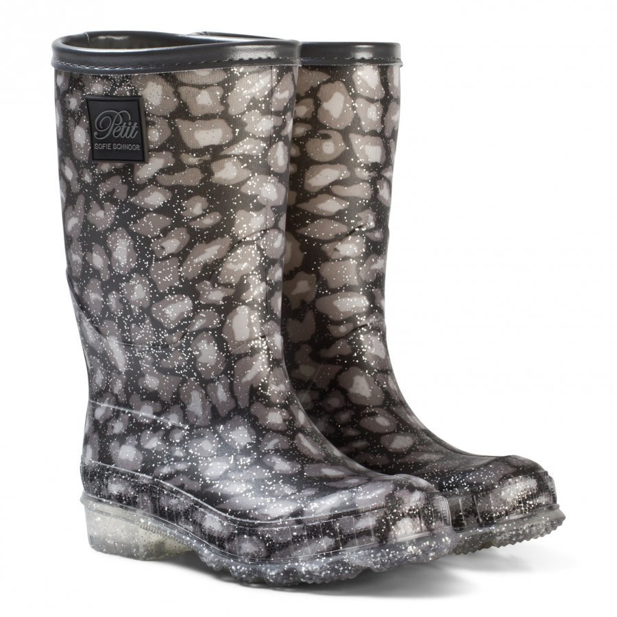 Petit By Sofie Schnoor Rubber Boot W. Lining Leo Glitter Kumisaappaat
