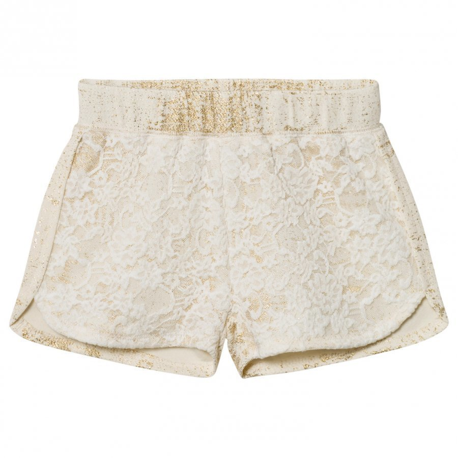 Petit By Sofie Schnoor Shorts Off-White Gold Juhlashortsit