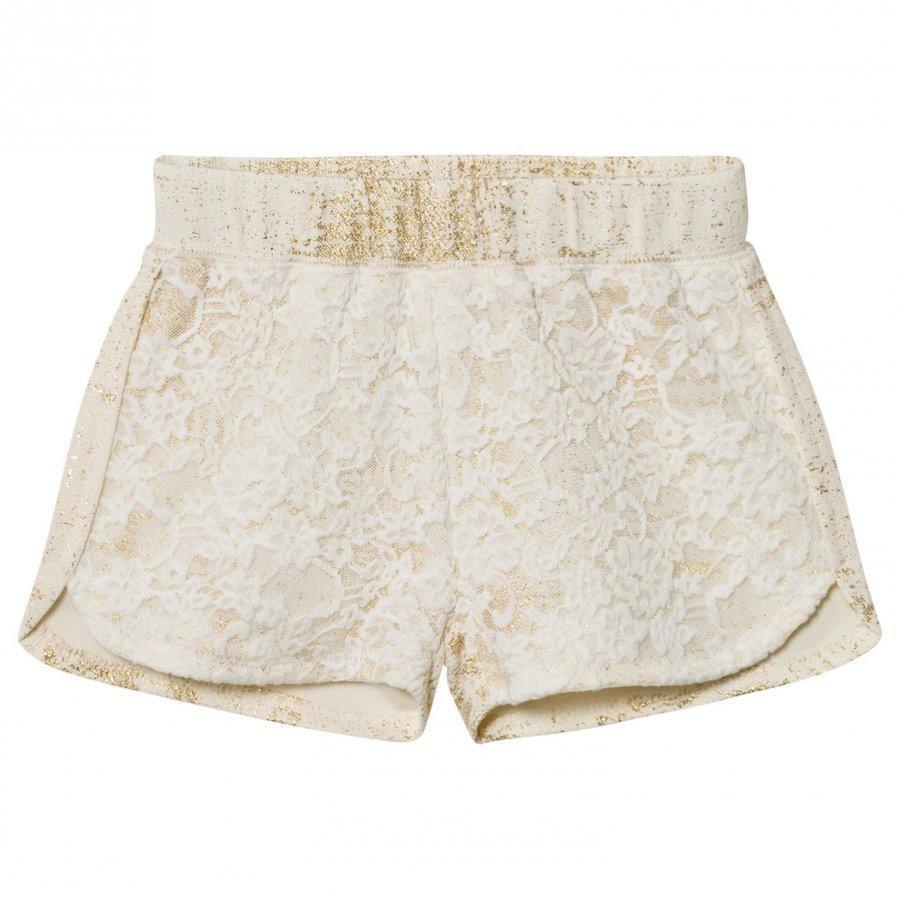 Petit By Sofie Schnoor Shorts Off-White Gold Juhlashortsit