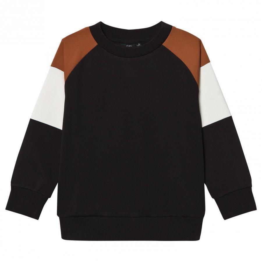 Petit By Sofie Schnoor Shoulder Stripe Sweater Black Oloasun Paita