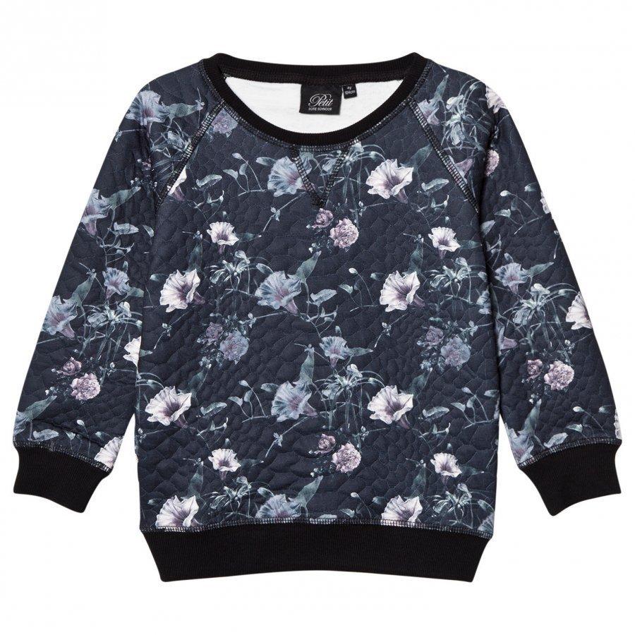 Petit By Sofie Schnoor Sweater Black Floral Oloasun Paita