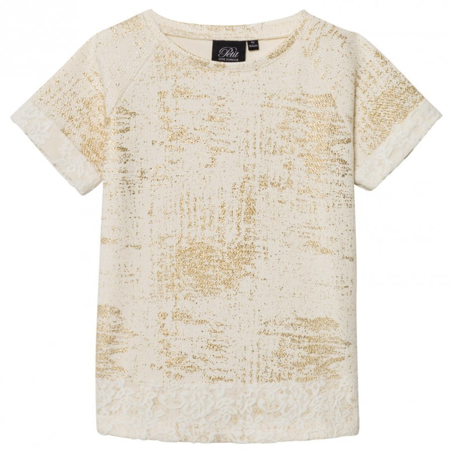 Petit By Sofie Schnoor T-Shirt Off-White Gold T-Paita