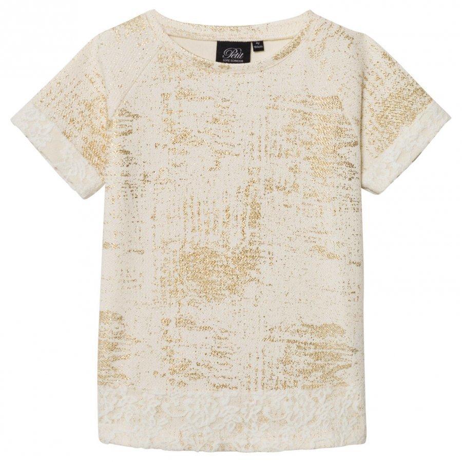 Petit By Sofie Schnoor T-Shirt Off-White Gold T-Paita