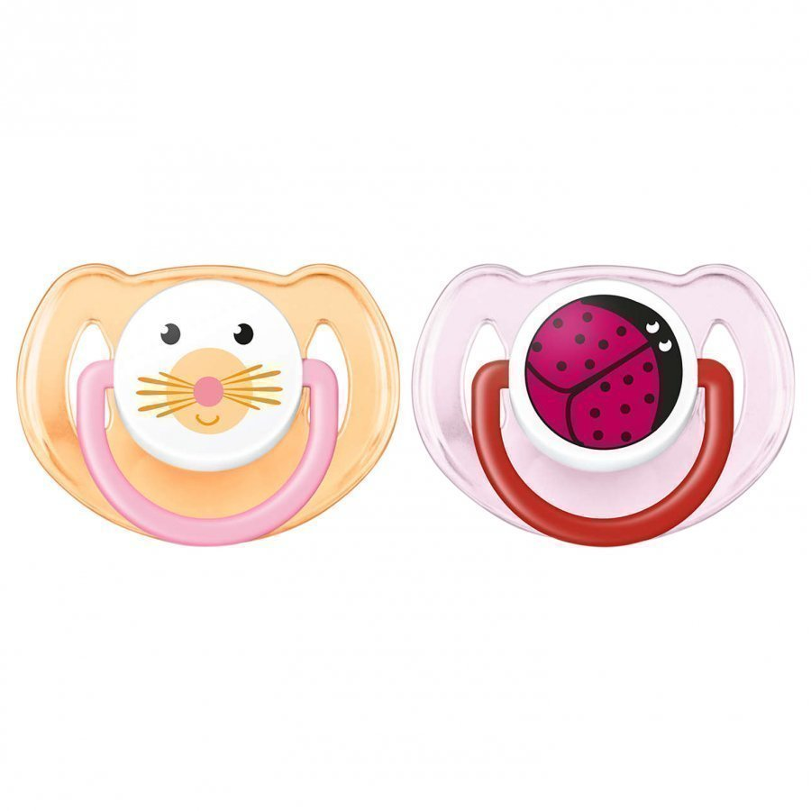 Philips Avent Animal Soother 6-18m 2 Pack Pink Tutti
