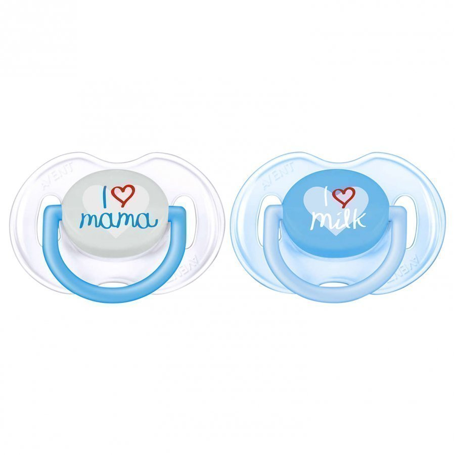 Philips Avent Fashion Soother 0-6m 2 Pack Blue Tutti