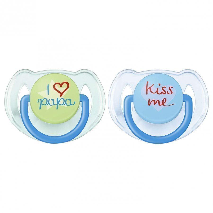 Philips Avent Fashion Soother 6-18m 2 Pack Blue Tutti