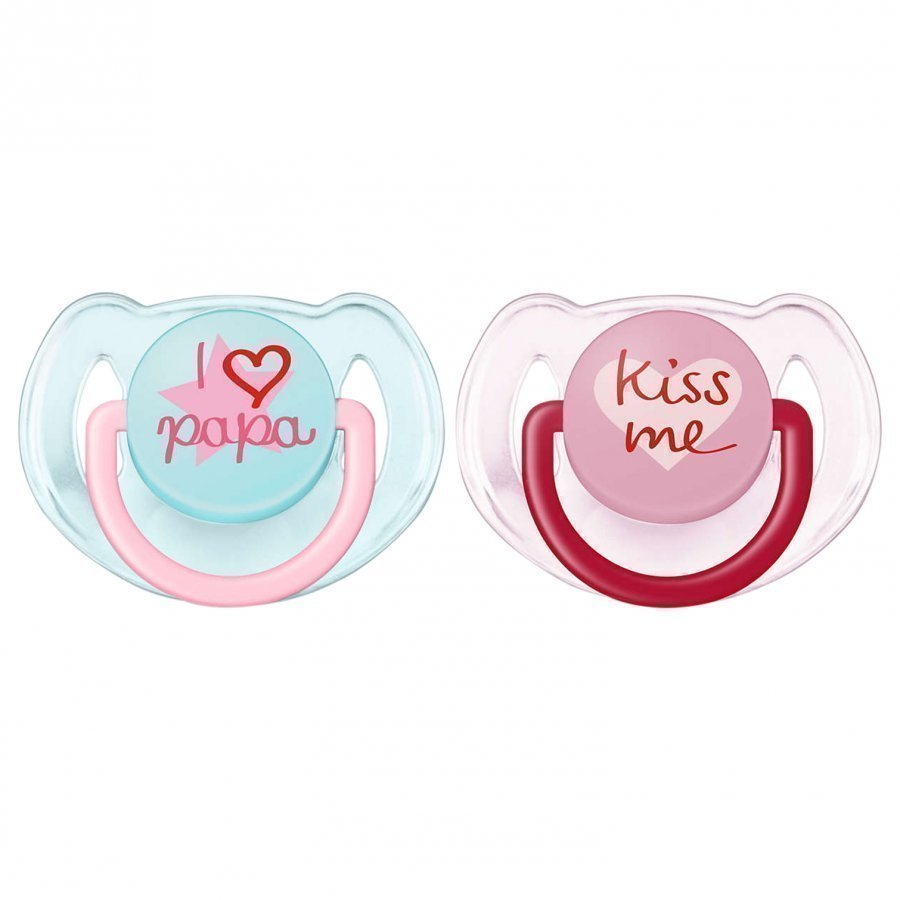 Philips Avent Fashion Soother 6-18m 2 Pack Pink Tutti