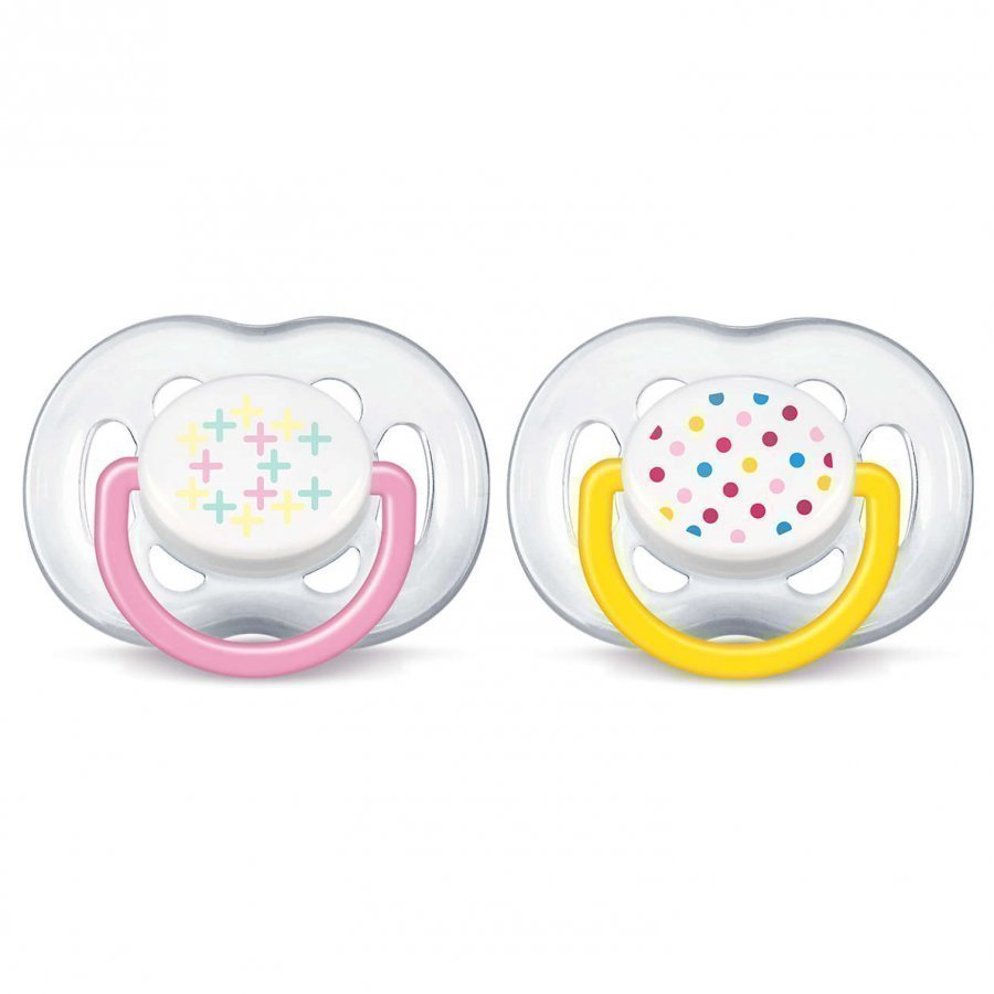 Philips Avent Freeflow Soother 6-18m 2 Pack Pink Tutti