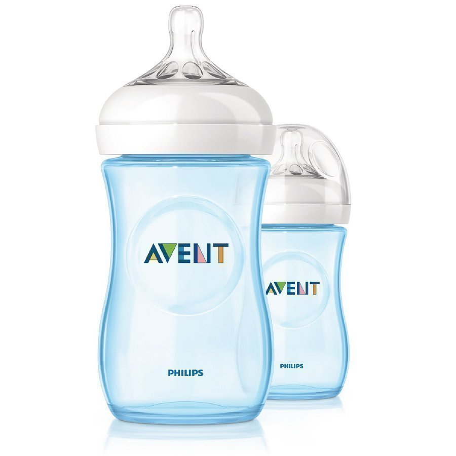 Philips Avent Natural Tuttipullo 260 Ml Sininen 2 Kpl