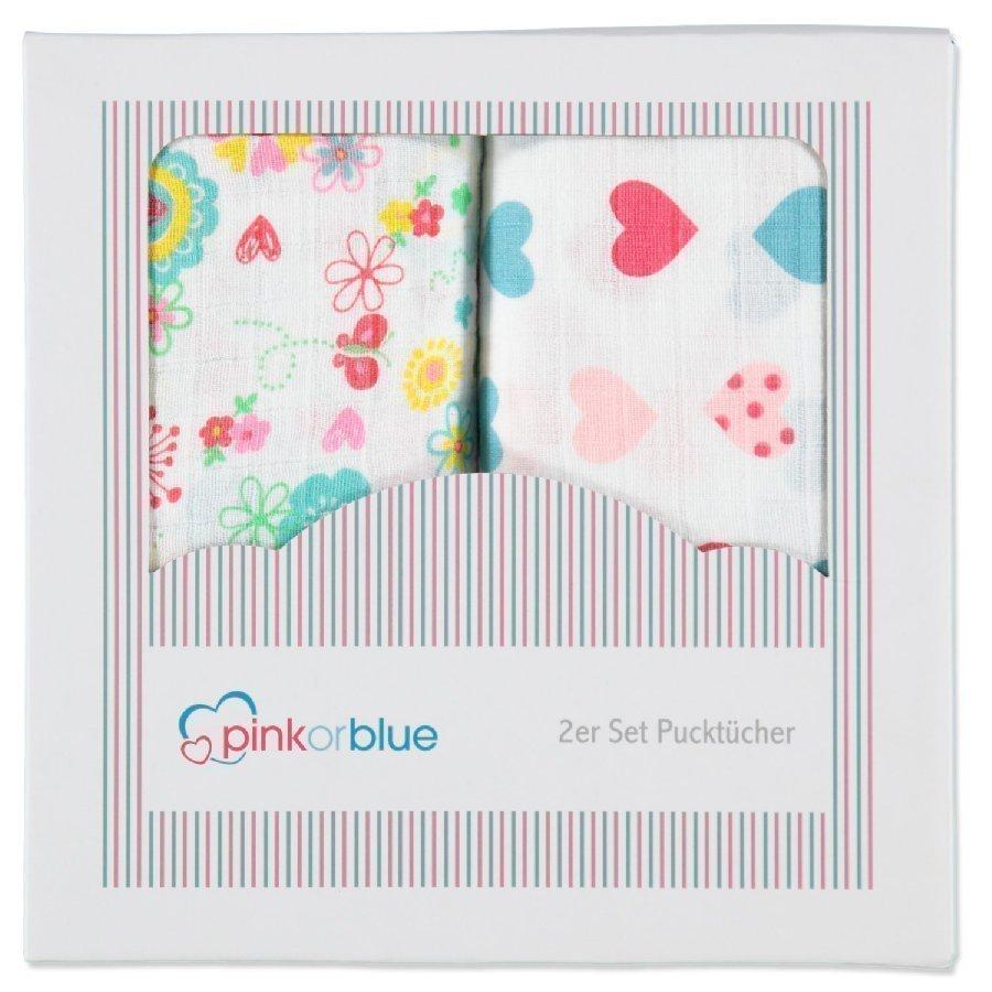 Pink Or Blue Harsoliina 2 Kpl Kukat Ja Sydämet