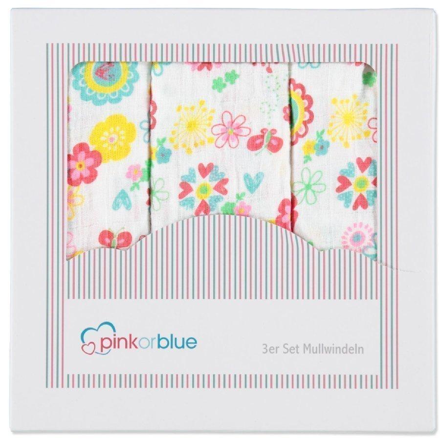 Pink Or Blue Harsoliina 3 Kpl Kukat