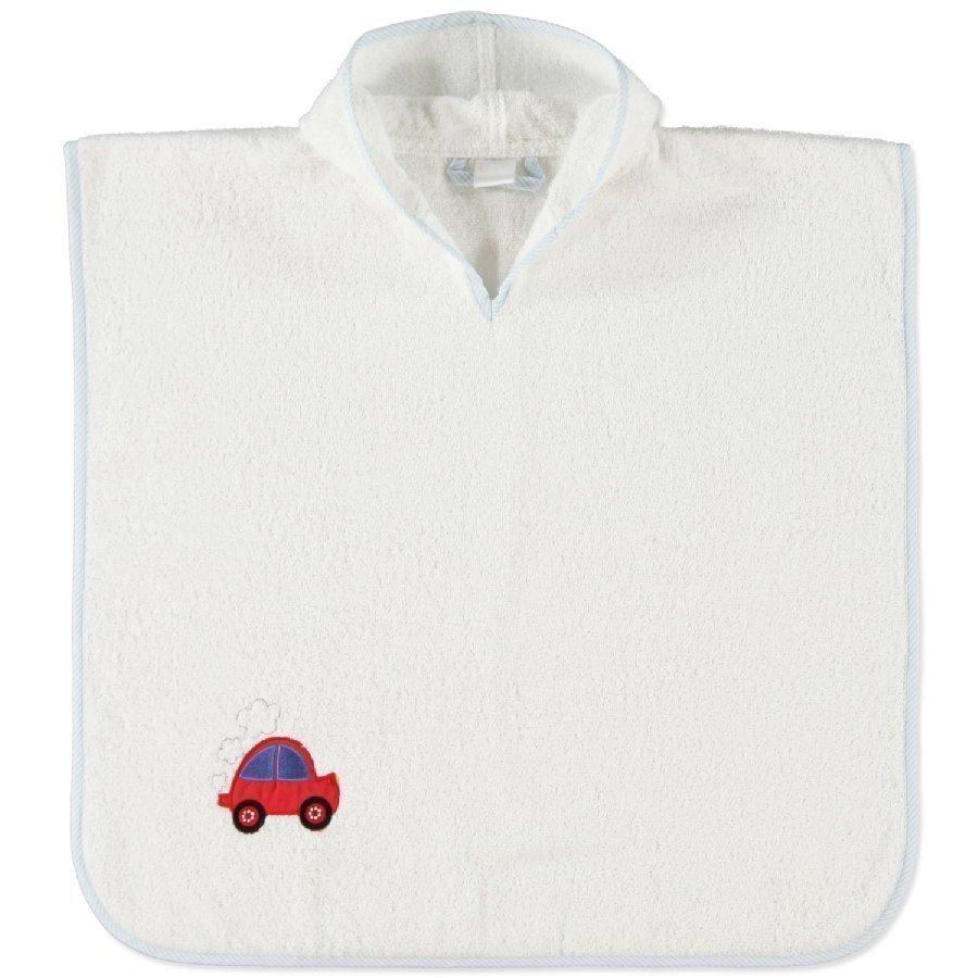 Pink Or Blue Hupullinen Kylpyponcho Teema Auto Valkoinen / Vaaleansininen