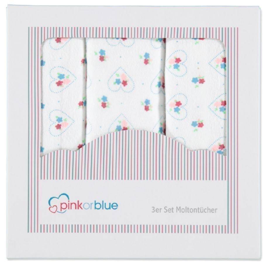 Pink Or Blue Molton Alunen 3 Kpl