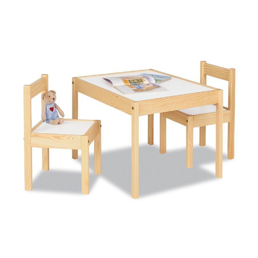 Pinolino Lasten Istuinryhmä Olaf 3 Osainen Luonnonpuu / Valkoinen