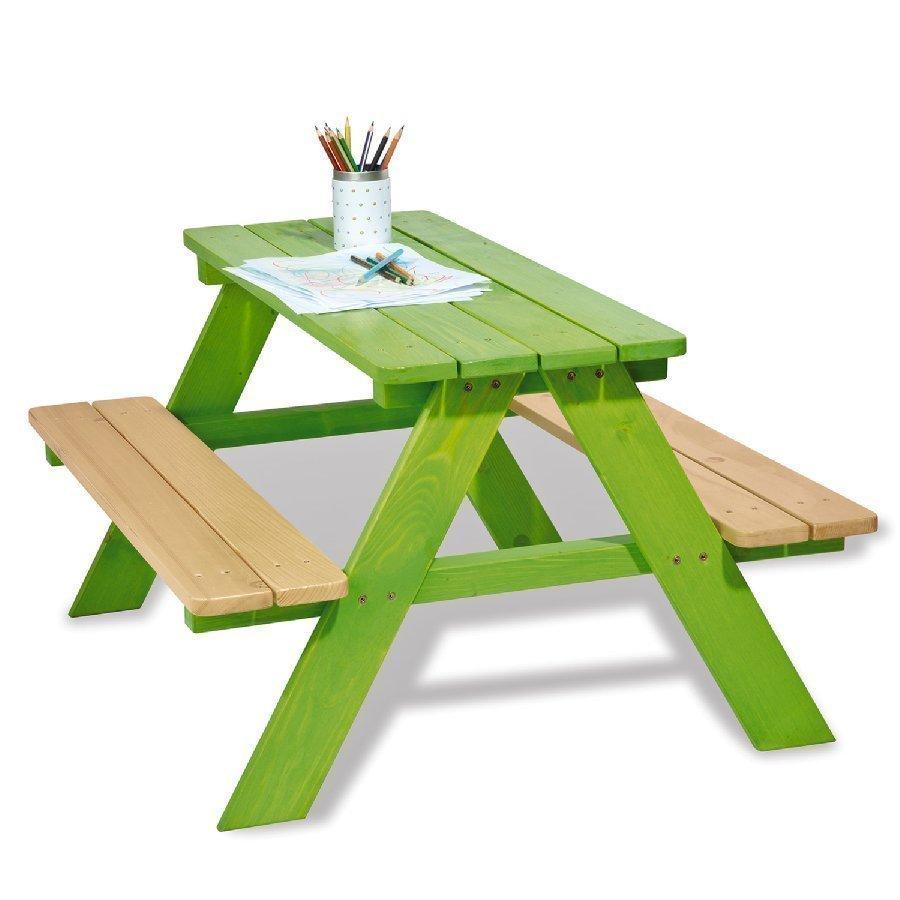Pinolino Lastenpiknikpöytä Nicki Neljälle Vihreä