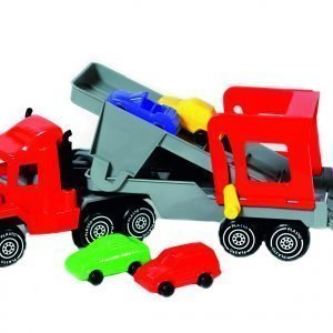 Plasto Autonkuljetusrekka + 4 Autoa Punainen