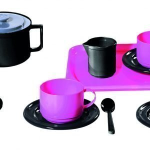 Plasto Kahviastiat Neljälle Pinkki 18-Osainen