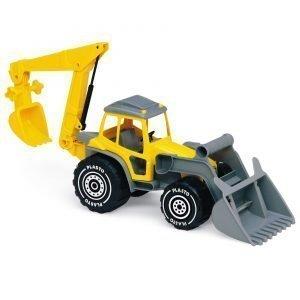 Plasto Kauhatraktori Kaivurilla Keltainen