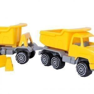 Plasto Kuorma Auto + Peräkärry Keltainen 52 Cm