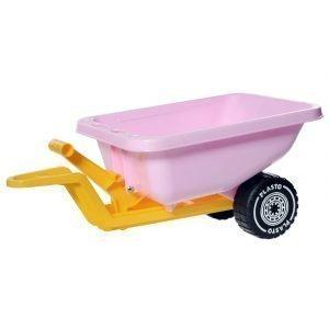 Plasto Peräkärry Prinsessamoottoripyörään Vaaleanpunainen