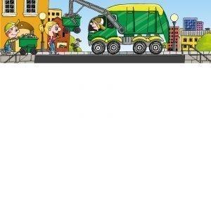 Plasto Roska Auto Vihreä Keltainen