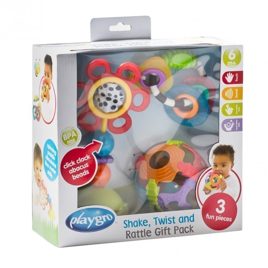 Playgro Shake Twist And Rattle Gift Pack Helistin