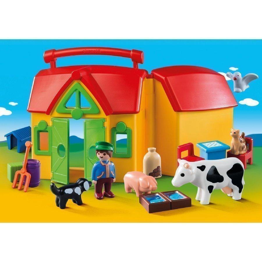 Playmobil 1 2 3 Kannettava Maatila 6962