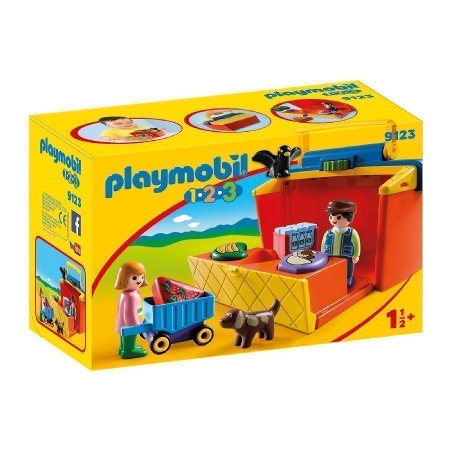 Playmobil 1 2 3 Kannettava Markkinakoju 9123