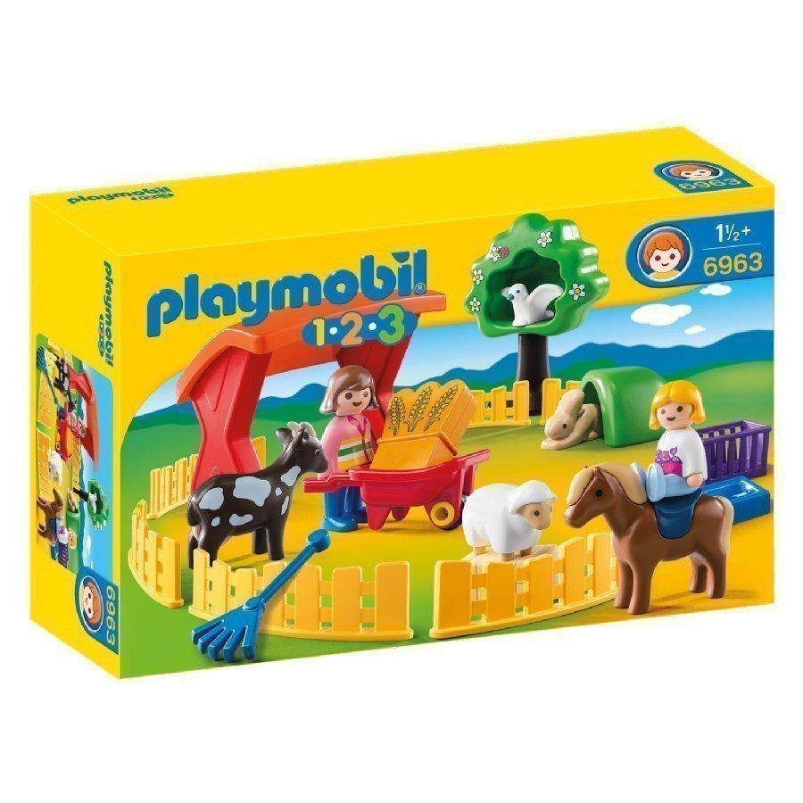 Playmobil 1 2 3 Kotieläinpiha 6963
