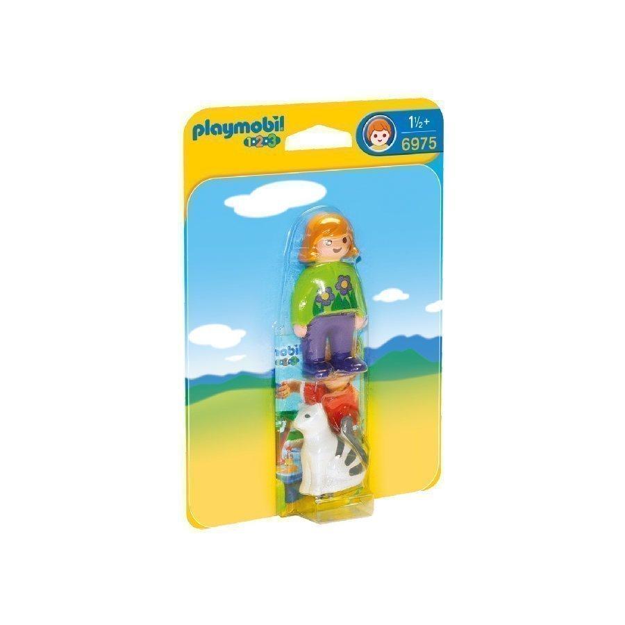 Playmobil 1 2 3 Nainen Ja Kissa 6975