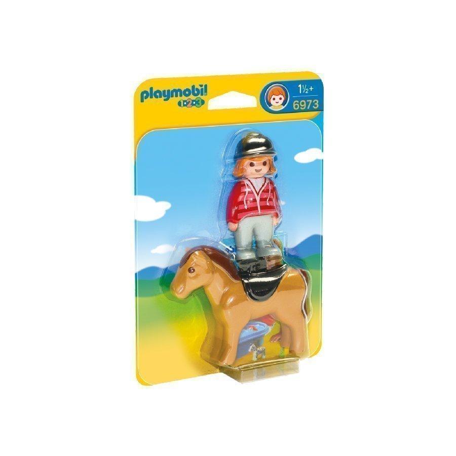 Playmobil 1 2 3 Ratsastaja Ja Hevonen 6973