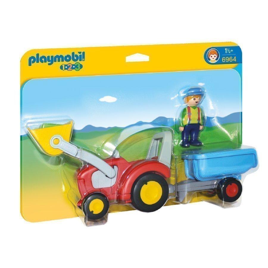 Playmobil 1 2 3 Tarktori Peräkärryllä 6964