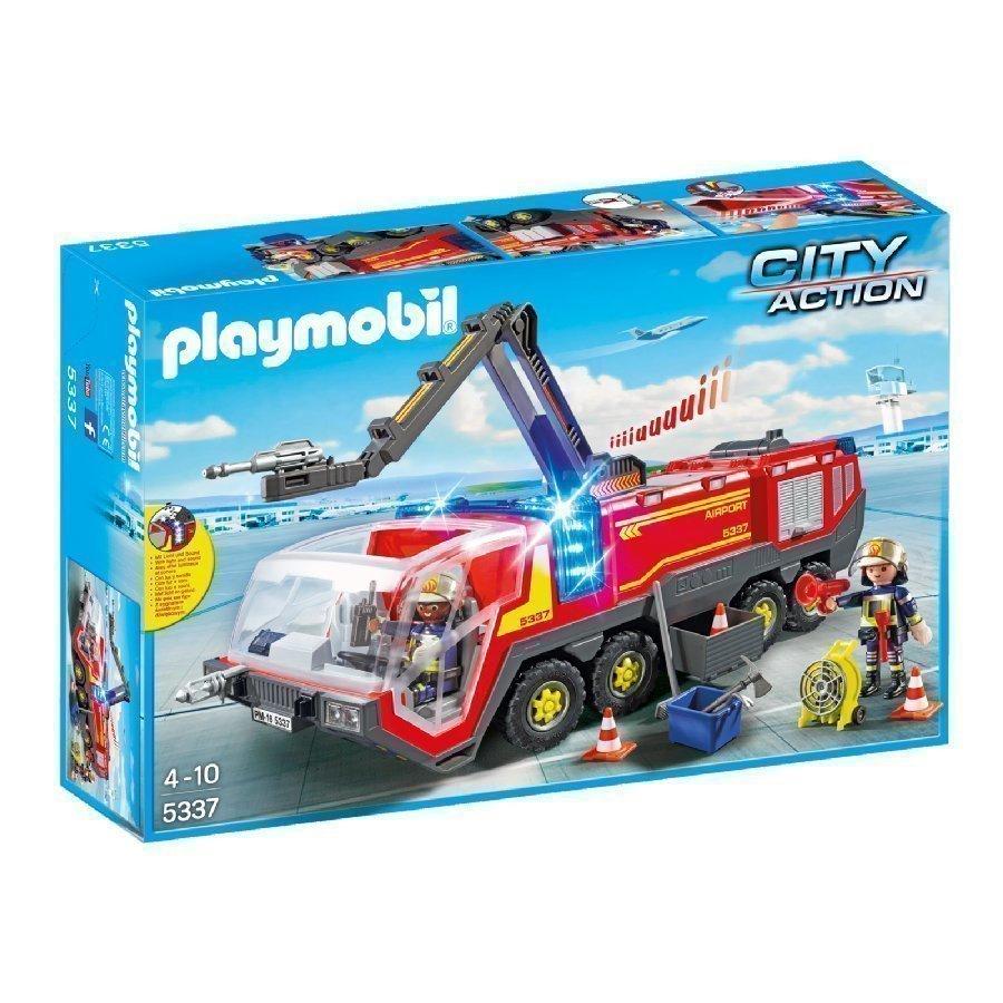 Playmobil City Action Lentokentän Sammutusauto Valolla Ja Äänellä 5337