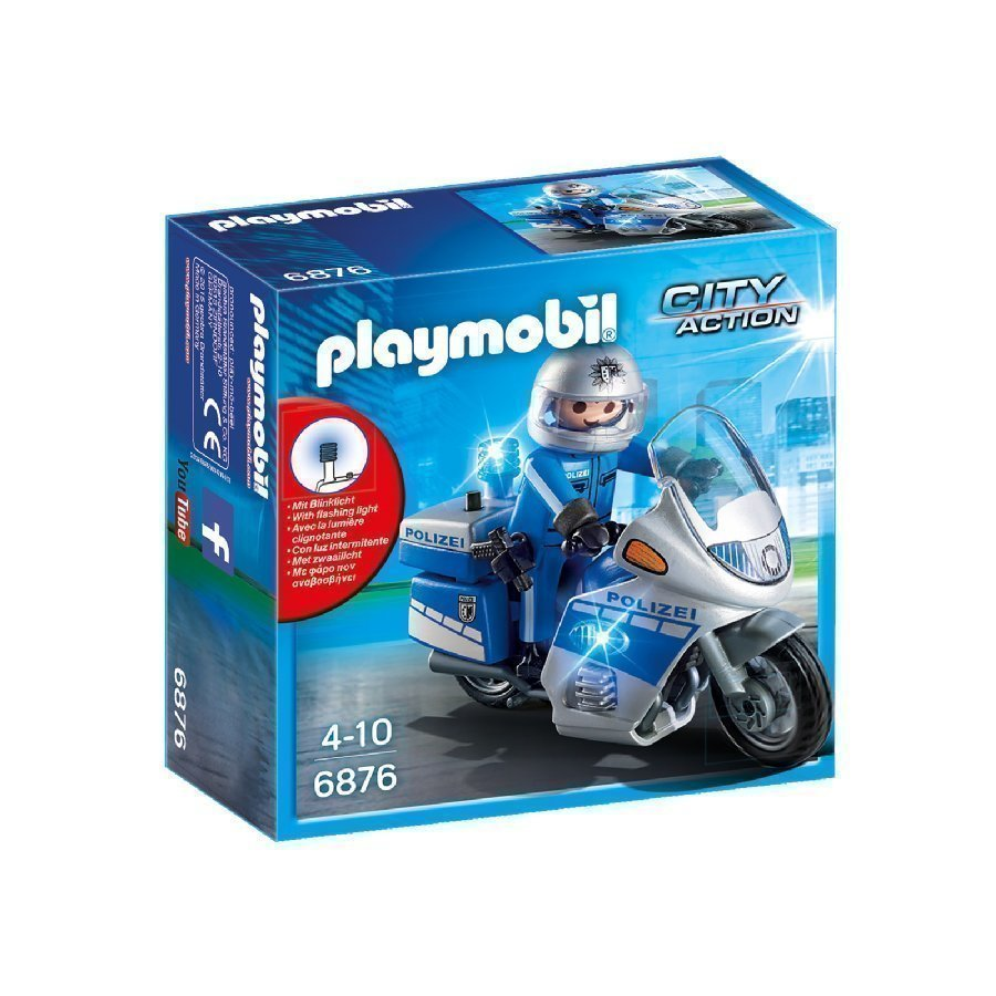 Playmobil City Action Moottoripyöräpoliisi Led Valolla 6876