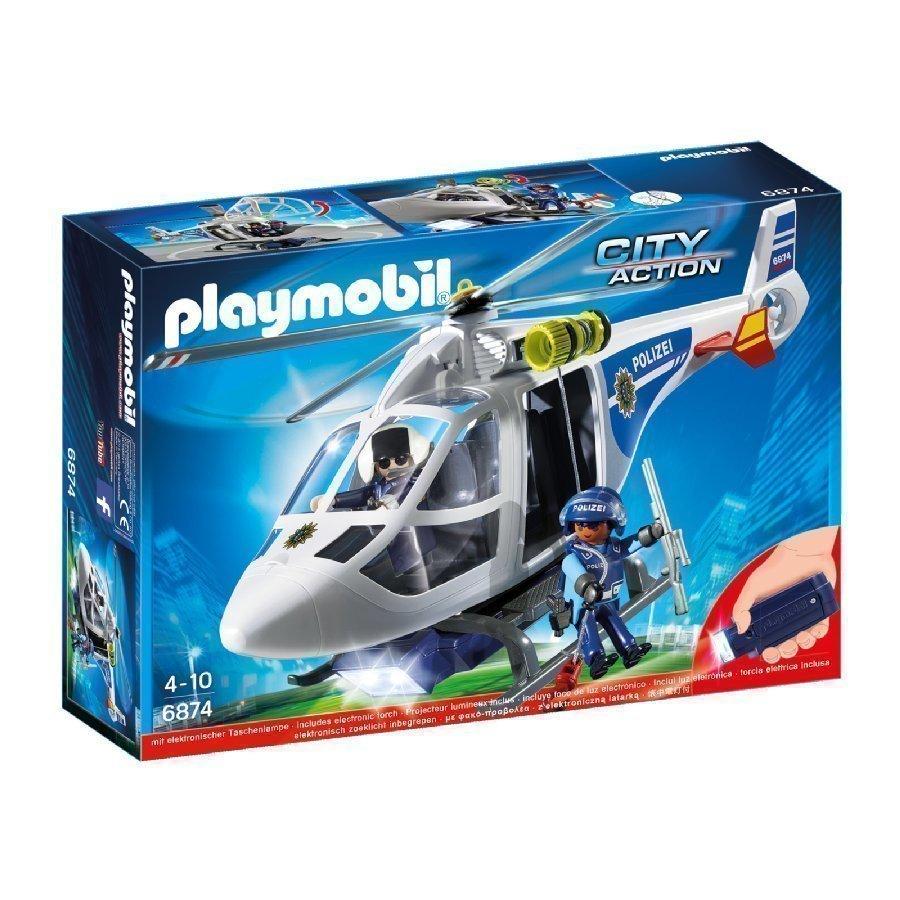 Playmobil City Action Pollisihelikopteri Led Etsintävalolla 6874