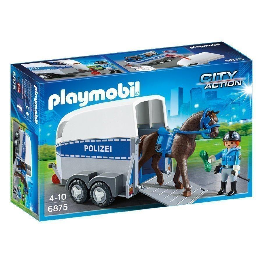 Playmobil City Action Ratsupoliisi Ja Kuljetusvaunu 6875