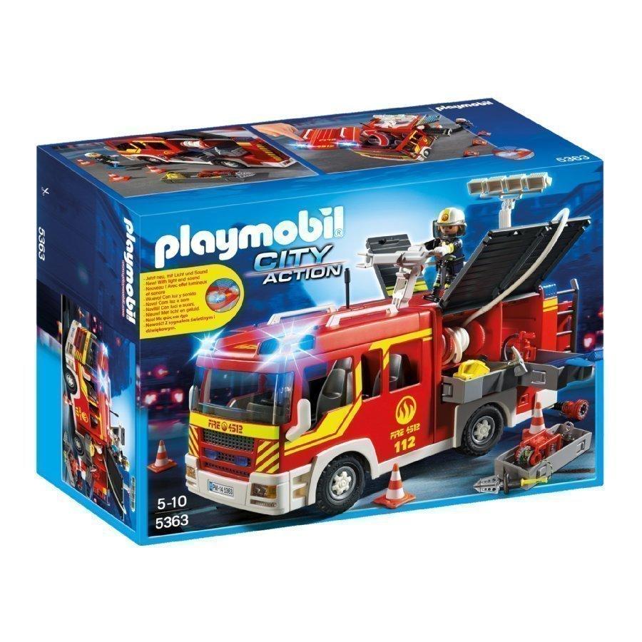 Playmobil City Action Sammutusjoukkojen Paloauto Valolla Ja Äänellä 5363