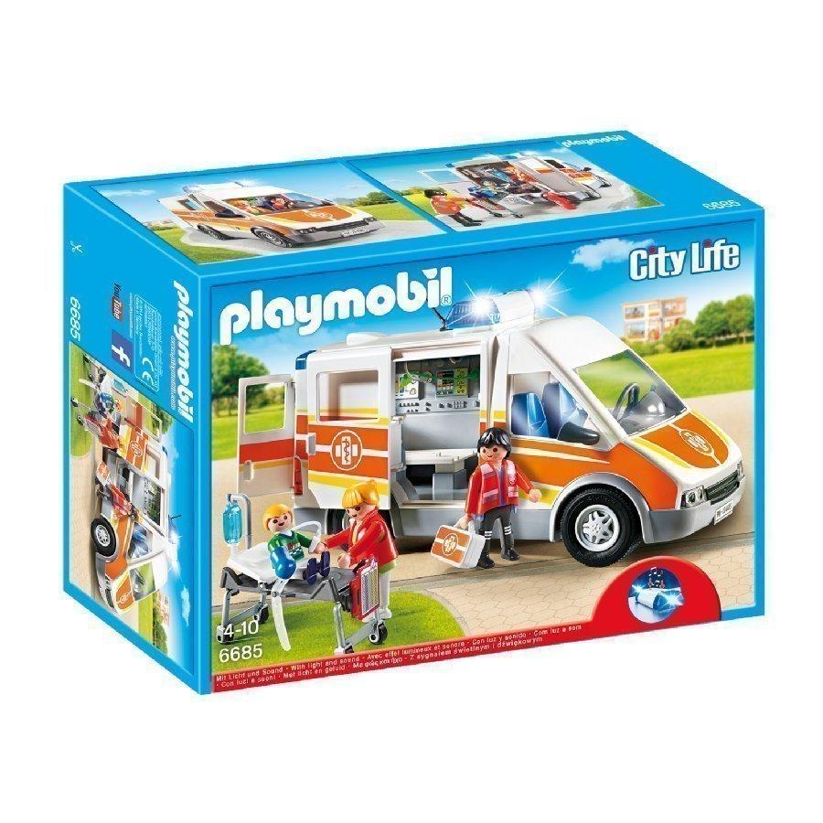 Playmobil City Life Ambulanssi Valolla Ja Äänellä 6685