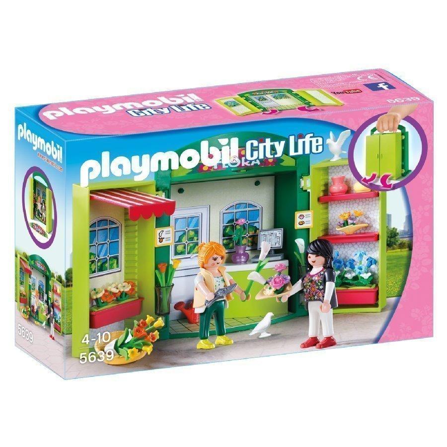 Playmobil City Life Kannettava Leikkilaatikko Kukkakauppa 5639