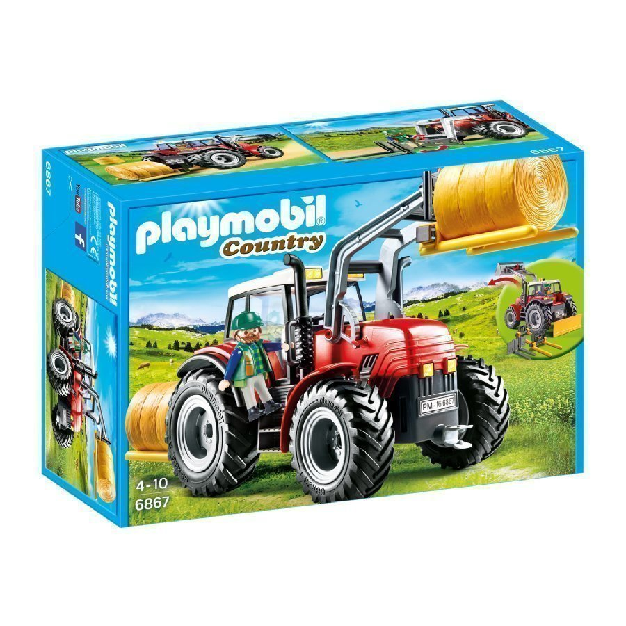 Playmobil Country Iso Traktori Erityistyövälineillä 6867