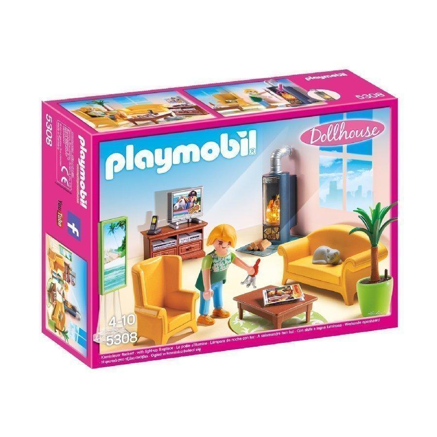 Playmobil Dollhouse Olohuone Takalla 5308