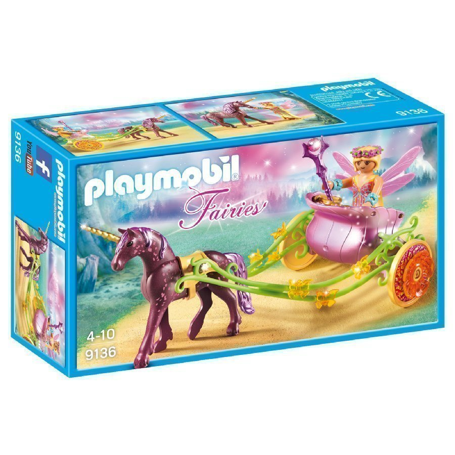 Playmobil Fairies Keiju Ja Yksisarvisvaunut 9136