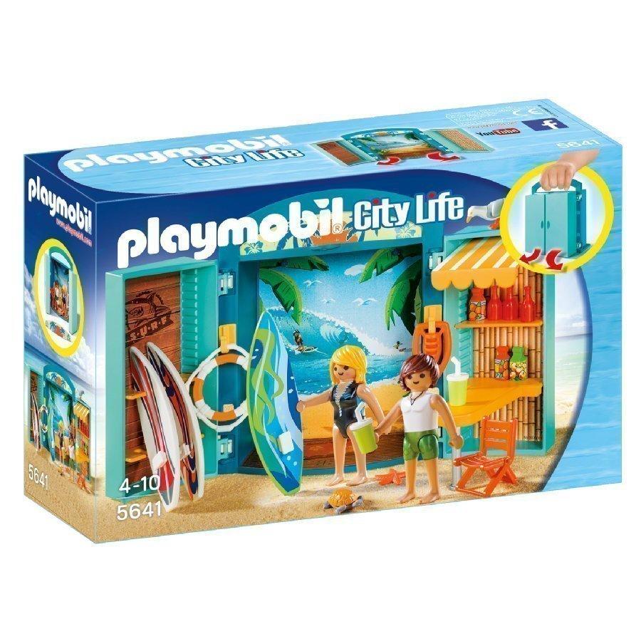 Playmobil Family Fun Kannettava Leikkilaatikko Surffikauppa 5641