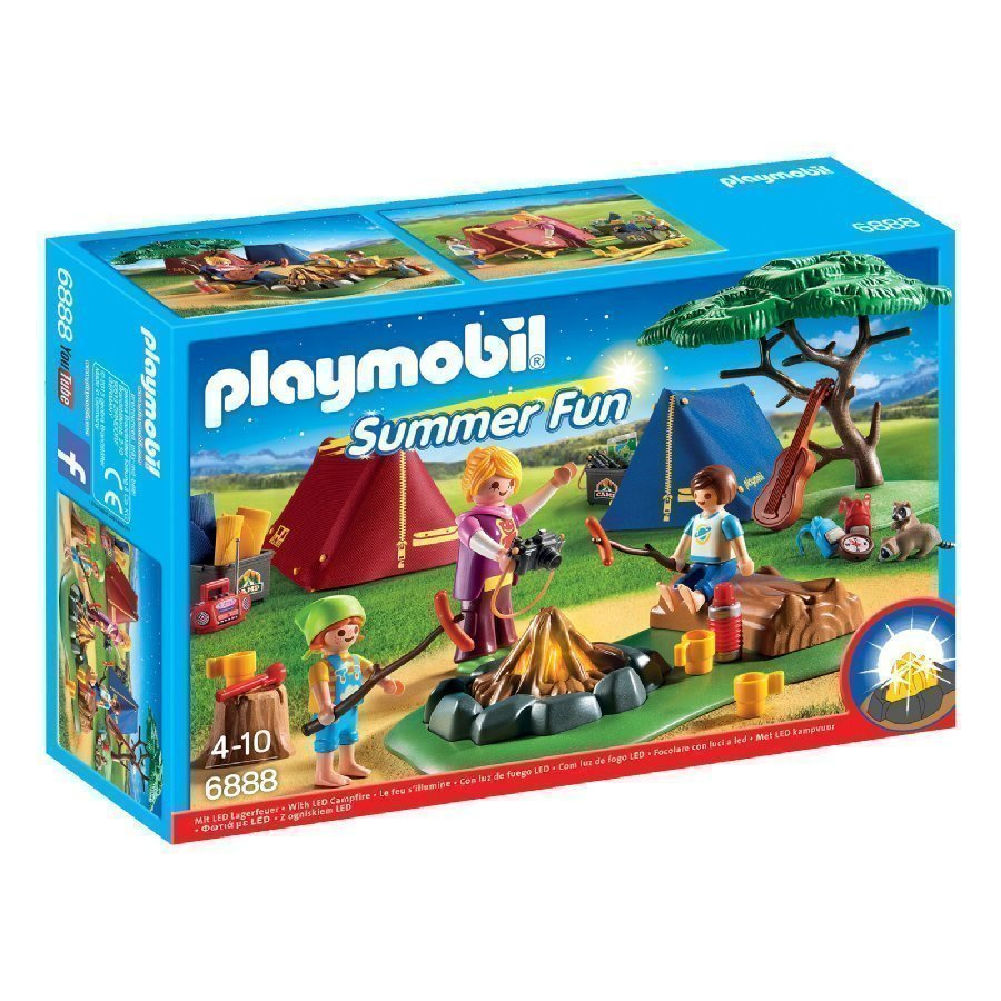 Playmobil Family Fun Telttaleiri Led Nuotiolla 6888